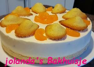 Koud bakken Madeleien mandarijnentaart