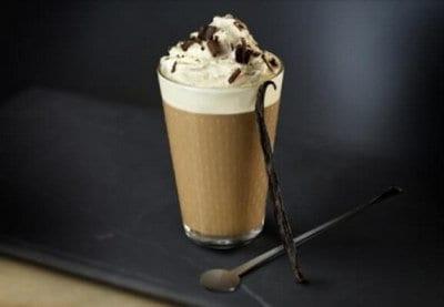Weense café latte met vanille