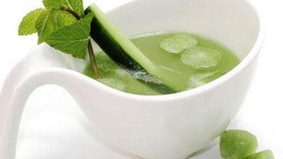 Komkommer ijsblokjes