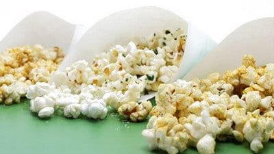 Popcorn in drie smaken