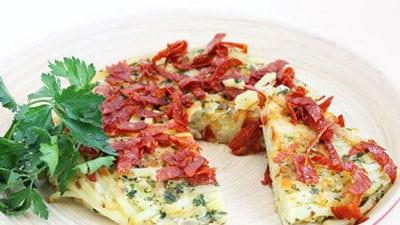 Tortilla met chorizo