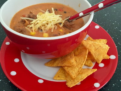 Romige mexicaanse maaltijdsoep