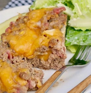 Cheeseburger gehaktbrood met bacon