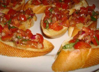 Bruschetta met salsa