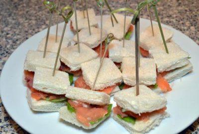 Mini sandwich met zalm