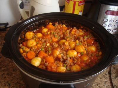 Poor man's stew uit de slowcooker