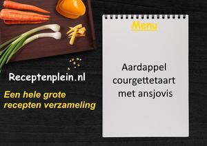 Aardappel courgettetaart met ansjovis