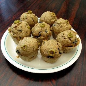 Aardappel olijven muffins