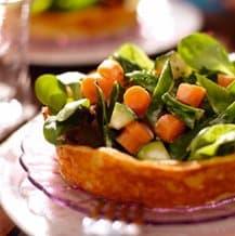 Aardappelbakjes met groenten