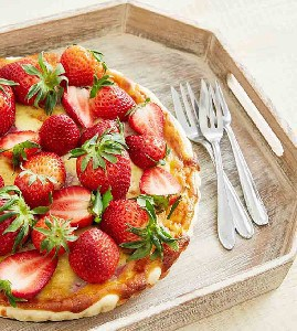 Aardbeien-mascarpone taart