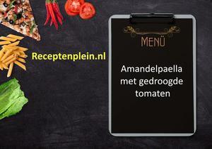 Amandelpaella met gedroogde tomaten
