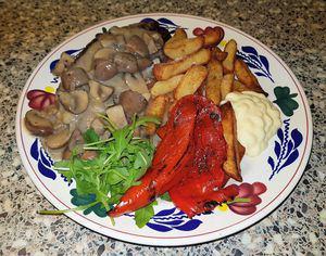 Biefstuk met champignon roomsaus