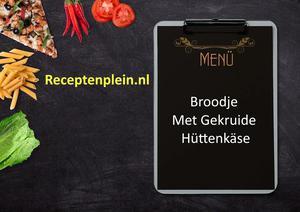 Broodje Met Gekruide Hüttenkäse