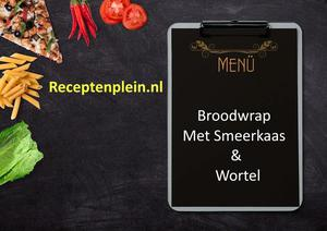 Broodwrap Met Smeerkaas En Wortel