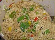 Noedels met groente