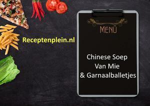 Chinese Soep Van Mie En Garnaalballetjes
