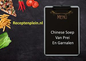 Chinese Soep Van Prei En Garnalen