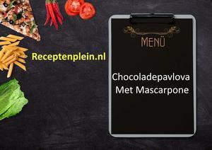 Chocoladepavlova Met Mascarpone