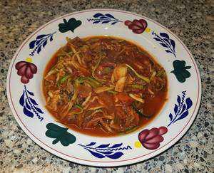 Courgette pasta met vers gemaakte pastasaus a la Sandra