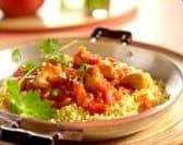 Couscous met kip in pittige tomatensaus