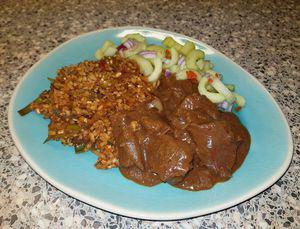 Gebakken bruine rijst (van bloemkoolrijst)