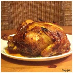 Indische kip van 't spit