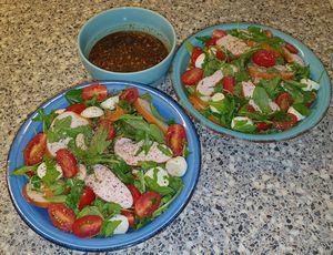 Gerookte Kip- Mozzarella salade a la Sandra