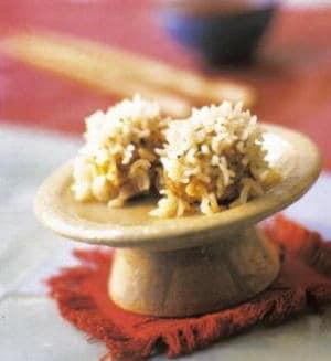 Gestoomde rijst gehaktballetjes
