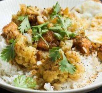 Groene curry met ui