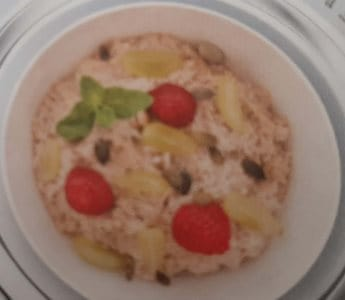 Havermoutpap met vers fruit