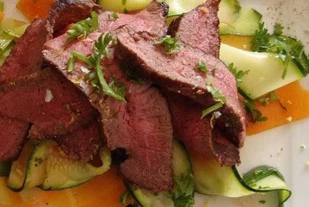 Hertenbiefstuk met heerlijke groenten
