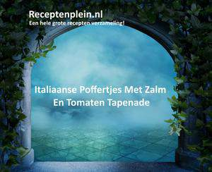 Italiaanse Poffertjes Met Zalm En Tomaten Tapenade