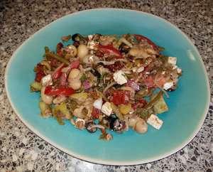 Italiaanse salade a la Frans