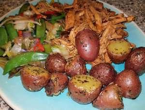 Knoflookaardappeltjes uit de airfryer