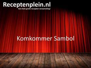 Komkommer Sambol