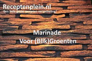 Marinade Voor (Blik)Groenten