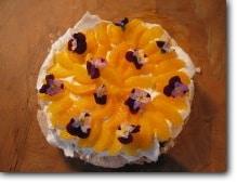 Merengue met sinaasappel