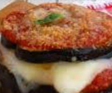 Mini melanzane parmigiana
