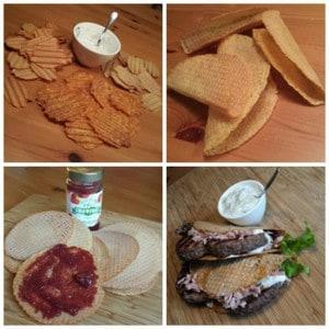Magere Wafels, Chips en Tacos. Gluten- en Tarwevrij