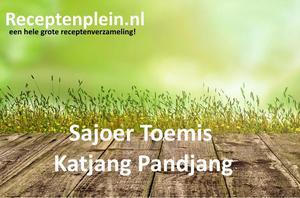 Sajoer Toemis Katjang Pandjang