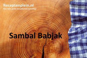 Sambal Babjak