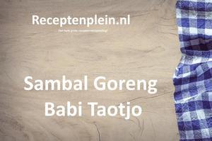 Sambal Goreng Babi Taotjo