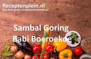 Sambal Goring Babi Boeroekoe