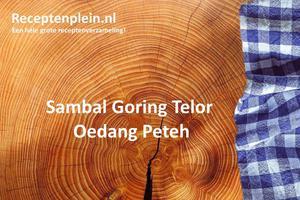 Sambal Goring Telor Oedang Peteh