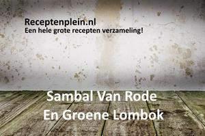 Sambal Van Rode En Groene Lombok