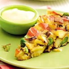 Spaanse groenteomelet