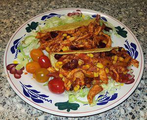 Taco's met kip en bonen a la Sandra