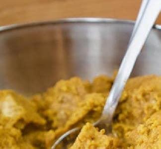 Tempeh stoofpotje met zoete aardappelsaus