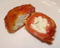 Gefrituurde gevulde tomaten