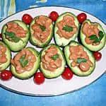 Avocado met garnalen